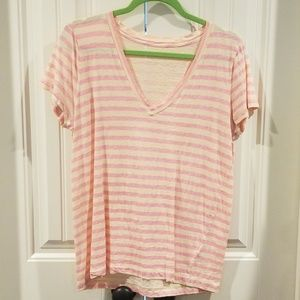 Large J. Crew Vintage Cotton Striped Tee